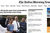 The Dallas Morning News kertoi, kuinka 14-vuotiaan Ahmed Mohammedin käsiraudat vaihtuivat Valkoisen talon kutsukortiksi.