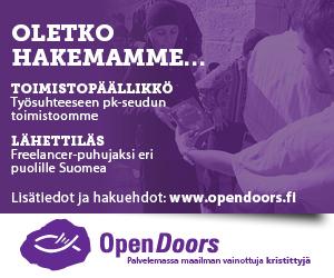 Open doors neliöbanneri