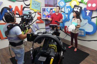 Tv-studiossa