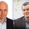 Piispainkokouksen pääsihteeri Jyri Komulainen (Kuva: Aarne Ormio) ja Kansanlähetysopiston rehtori Niilo Räsänen (Kuva: Jenniina Nummela).