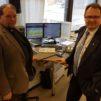 Kirkkoherra Jouni Lehikoinen ja kansanedustaja Reijo Hongisto (ps) debatoivat kirkon turvapaikkalinjauksista Radio Dein Viikon debatissa. KUVA: Kai Kortelainen