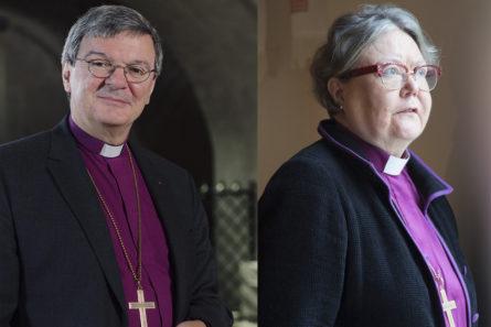 Piispa Kaarlo Kalliala (kuva Jani Laukkanen) ja Irja Askola (Kuva Aarne Ormio) saavat kumpikin itsenäisyyspäivänä Suomen Valkoisen Ruusun komentajamerkin.