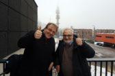 Joel Hallikainen ja Rainer Friman keskustelevat avoimesti Radio Dein Ihmisen ääni -ohjelmassa keskiviikkona. Kuva: Kai Kortelainen
