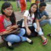 kännykänkäyttäjiä Jakartassa