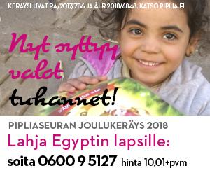 Raamattuja Egyptin lapsille