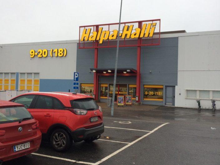 Halpa-Halli investoi uusien myymälöiden rakentamiseen