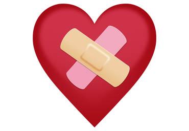 Yksi Forgivemoji-kampanjan demoemojeista kuvaa laastaroitua sydäntä.