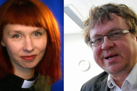 Marjaana Toiviainen ja Pekka Sauri ovat molemmat kokeneet sekä sosiaalisen median arvokkaat että nurjat puolet. Kuva: Harri Lamminsalo ja Mikael Juntunen