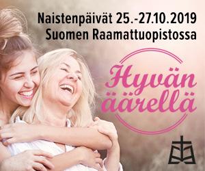 Suomen Raamattuopisto – Naistenpäivät 23.-26.10.2019 300×250