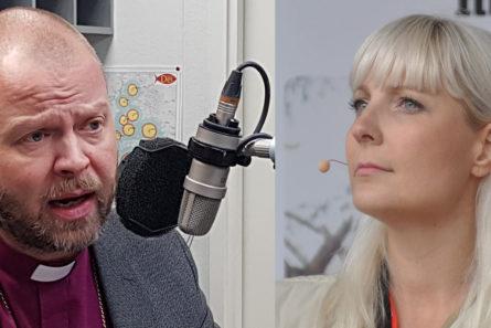 Piispa Teemu Laajasalon mukaan perussuomalaisten Laura Huhtasaari kysyy syntilistoja yllättävistä aiheista yllättävissä yhteyksissä.