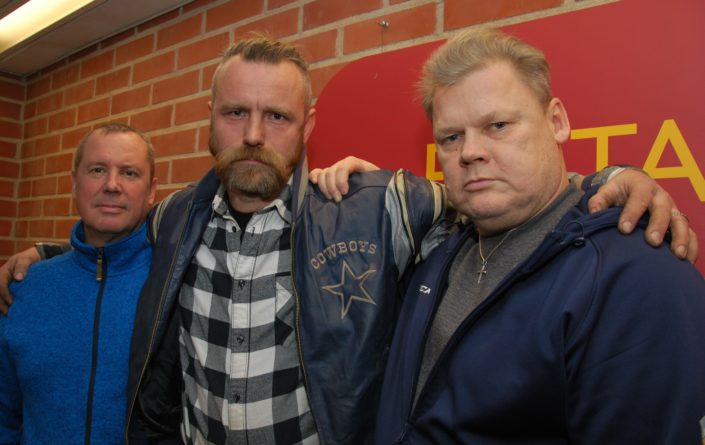 """Ex-Criminals -sarjan avuasosassa tiistaina 4. helmikuuta ovat äänessä Ali NIemelä, Pauli Ojala ja Lauri """"Late"""" Johansson."""