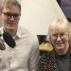 Juristi Dani Niskanen ja lääkäri Kati Juva debatoivat Radio Deissä Suomen huumelainsäädännöstä ja sen sisältämästä yhteiskunnallisestä viestistä. Kuva: Samuli Suonpää