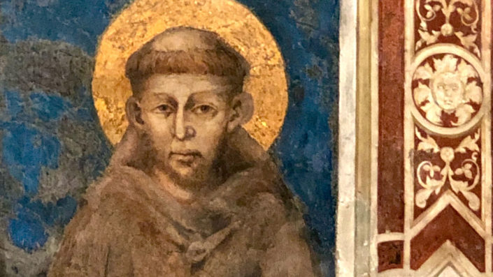 Giovanni Cimabuen maalaus Franciscus Assisilaisesta. Kuva: Luterilaisen kulttuurin säätiö