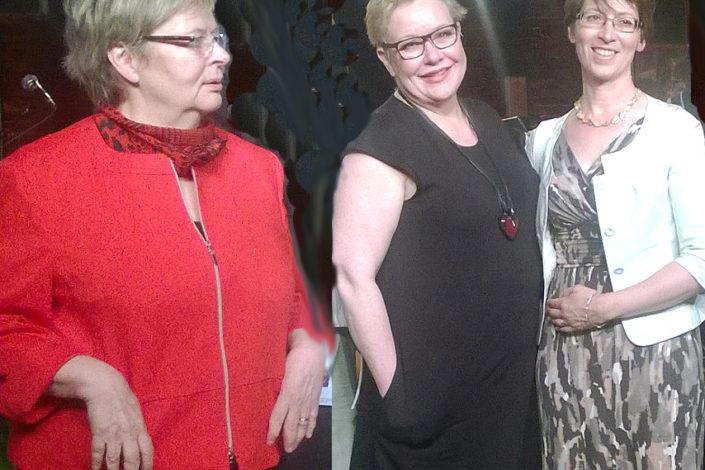 Liisa Jaakonsaari, Sirpa Pietikäinen ja Sari Essayah kirkon järjestämässä EU-arvoillassa huhtikuussa 2014. Kuva: Kai Kortelainen