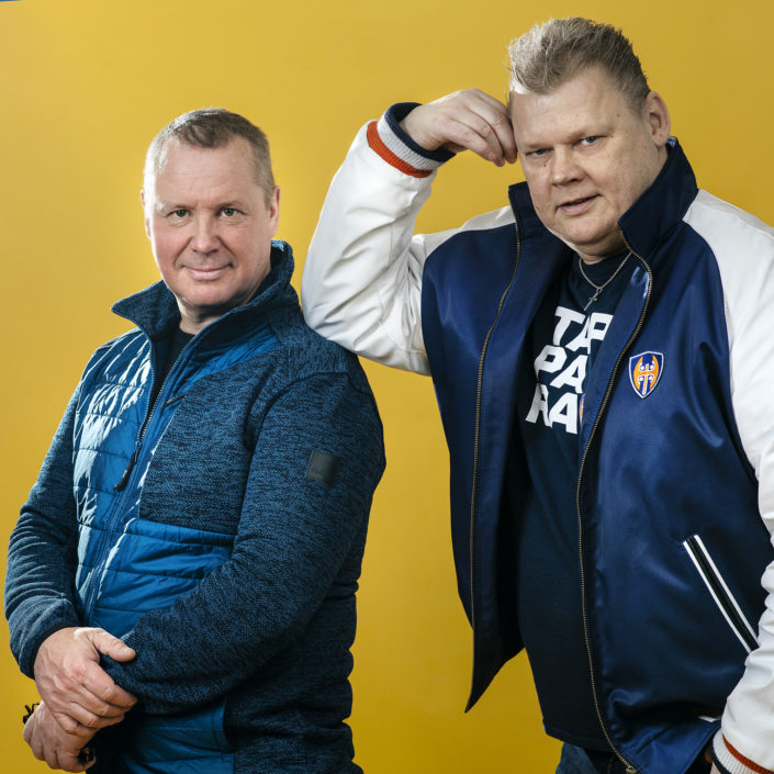 """Ali Niemelä ja Lauri """"Late"""" Johansson kisaavat Vuoden radio-ohjelma -tittelistä radioalan RadioAwards-kilpailussa. Kuva: Jani Laukkanen"""