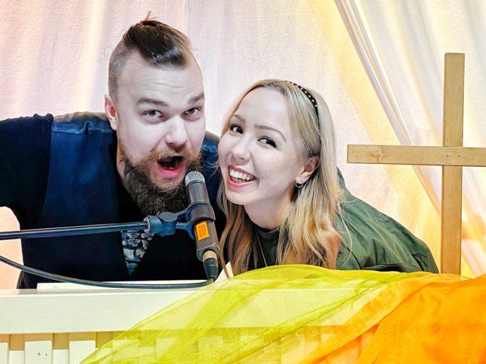 Joanna ja Petteri Rantamäki. Kuva: Riku Pesonen