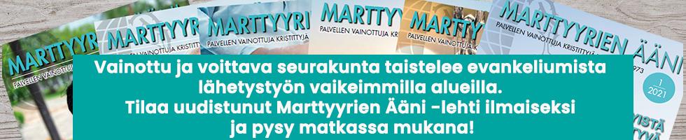 Marttyyrien Ääni, yläb 8.-14.3. MJa