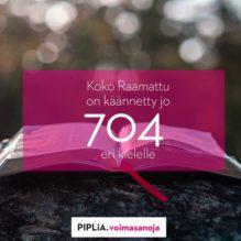 Raamatunkäännöksiä jo 704 kielelle